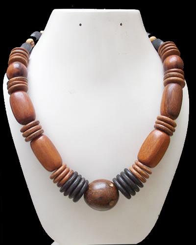 6 Wholesale Beautiful Necklace Handmade Wood Assorted Designs