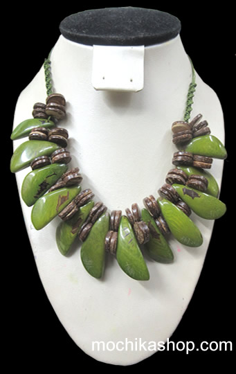 Inca Design Tagua and Coconut Necklaces
