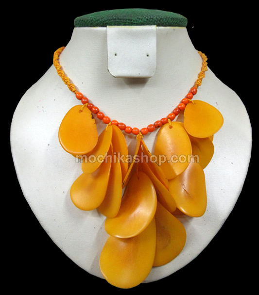 06 Wholesale Peruvian Tagua Chips Necklaces , Choker Design