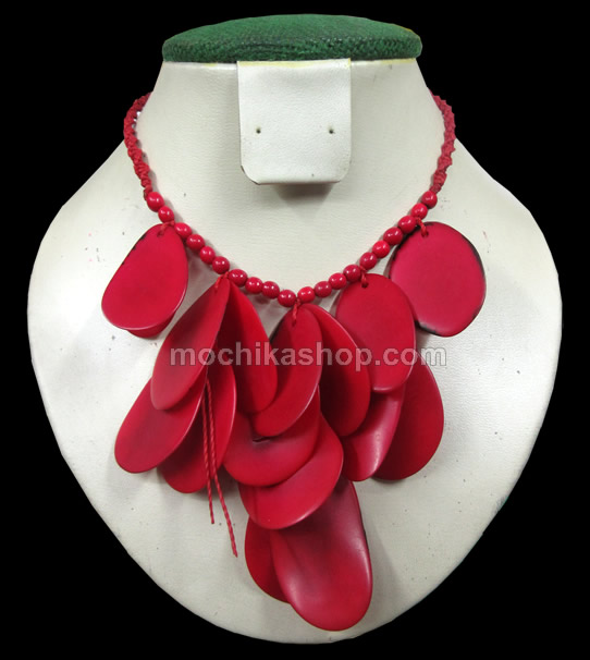 12 Pretty Wholesale Tagua Chips Necklaces, Choker Design