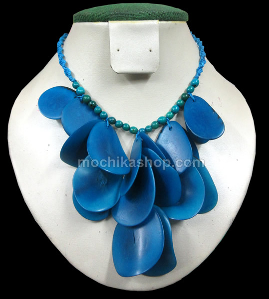 24 Beautiful Peruvian Wholesale Tagua Chips Necklaces, Choker Design