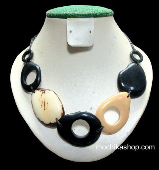 24 Gorgeous Wholesale Necklaces Handmade Tagua Donuts - Inca Design