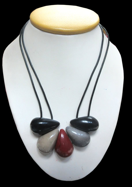12 Pretty Necklaces Handmade Tagua Nut Drops Seed Beads Colorful