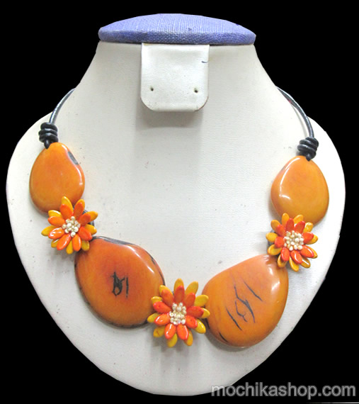 12 Wholesale Peruvian Chokers Handcrafted Tagua Flat Seeds and Melon Seeds