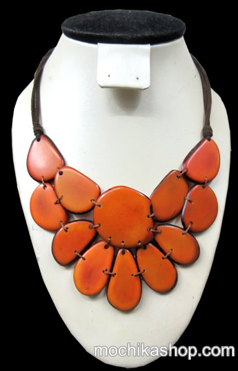 06 Amazing Wholesale Peruvian Chokers Handcrafted Tagua Flat Seeds