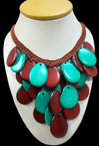 04 Peru Wholesale Tagua Necklaces Choker Design Woven Crochet
