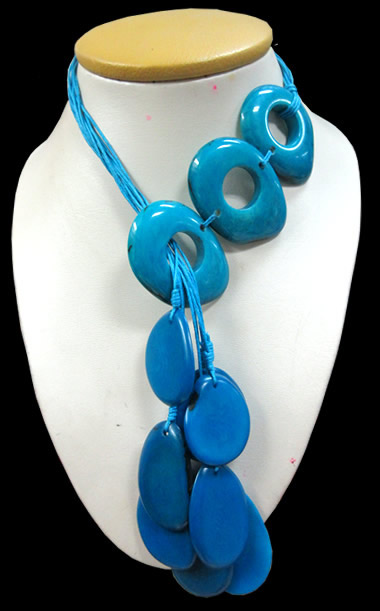 Tagua Donuts Necklaces Assorted Colors