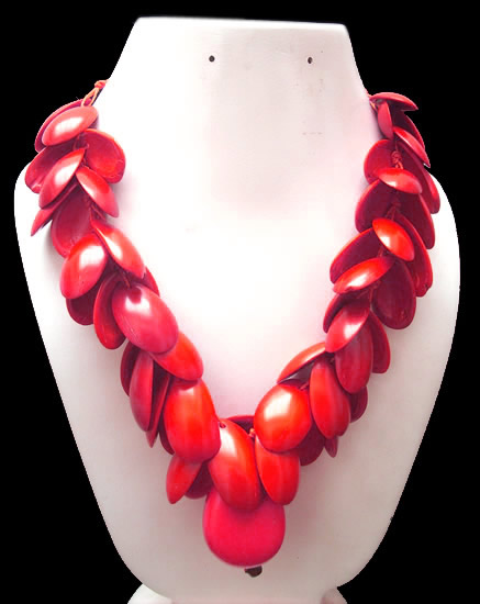 06 Prety Necklaces Handmade Palmito Seeds and Tagua Seed Beads