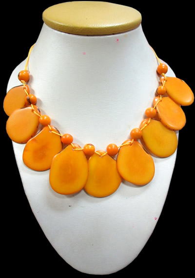 Tagua Necklaces Mixed Flat Seeds