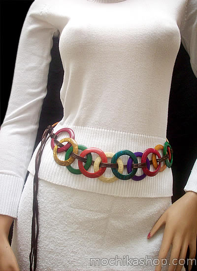 Multicolor Coconut Belts