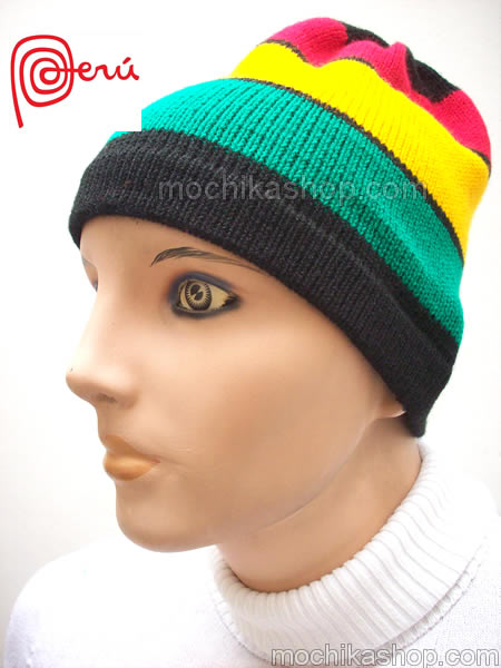 04 Beautiful Rasta Reggae Knitted Simple Beanie Hat