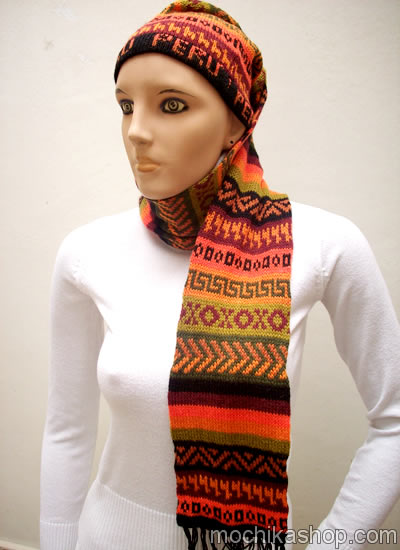 Colorful Peruvian Hat Scarves