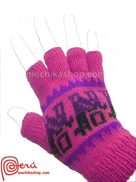 30 Wholesale Peruvian Multicolor Alpaca Wool Fingerless Gloves