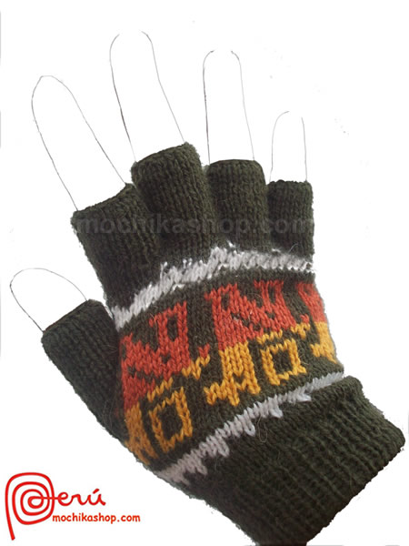 10 Wholesale Multicolor Peruvian Alpaca Wool Fingerless Gloves