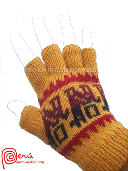 Lot 20 Wholesale Peruvian Colorful Alpaca Wool Fingerless Gloves