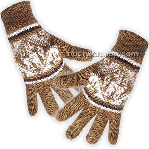 20 Wholesale Peruvian Gloves Natural Color Alpaca Blend Wool