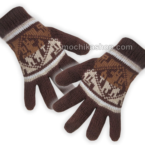 10 Wholesale Peruvian Gloves Natural Color Alpaca Blend Wool
