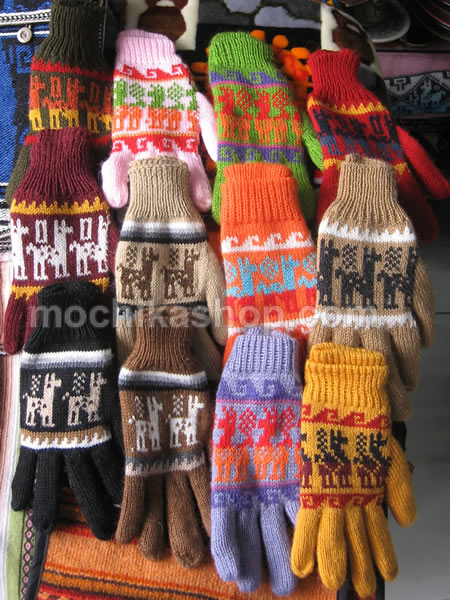 10 Inca Wholesale Peruvian Gloves Multicolor Alpaca Blend Wool
