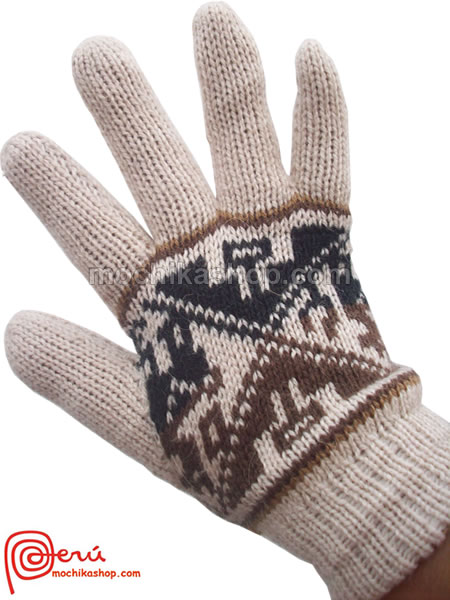 30 Peruvian Gloves Multicolor Reversible Alpaca Wool Blend