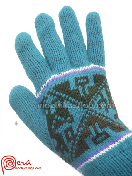 10 Wholesale Peru Gloves Reversible Handmade Alpaca Wool Blend