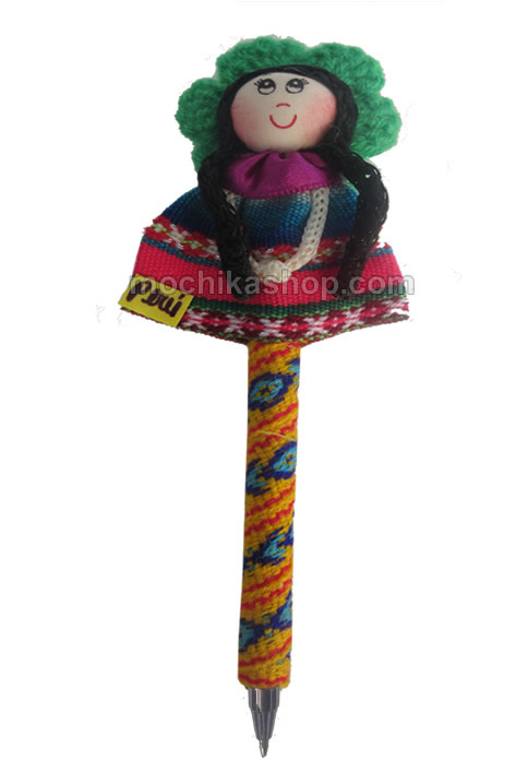 06 Peru Craft Pencils Lined with Cusco Blanket Fabric Doll Image