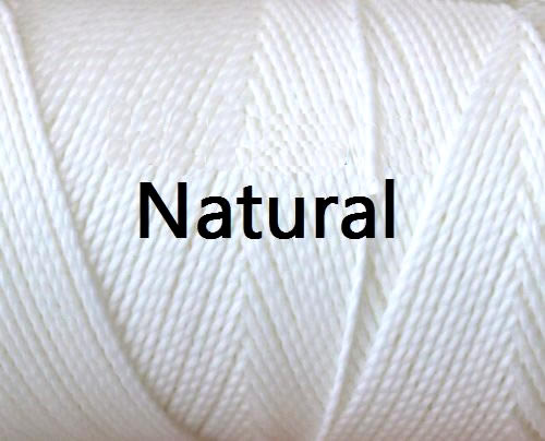 Linhasita White Color - Waxed Thread Cone , Spools 100% Polyester Cord