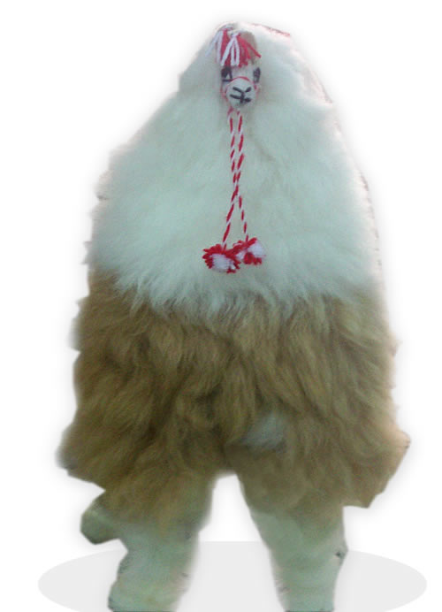 02 Gorgeous Doll Llama Handmade  Soft Fur Wool Natural Color