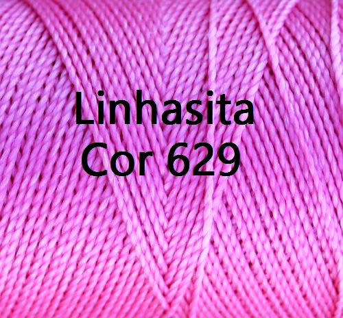 Linhasita Bright Pink Color - Waxed Thread Cone , Spools 100% Polyester Cord