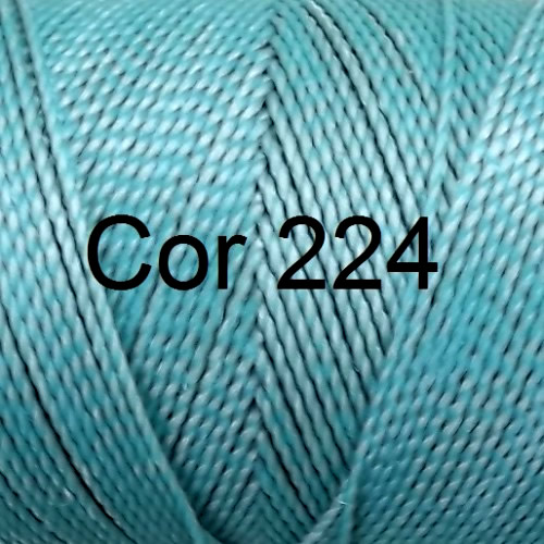 Linhasita Green Aqua Color - Waxed Thread Cone , Spools 100% Polyester Cord