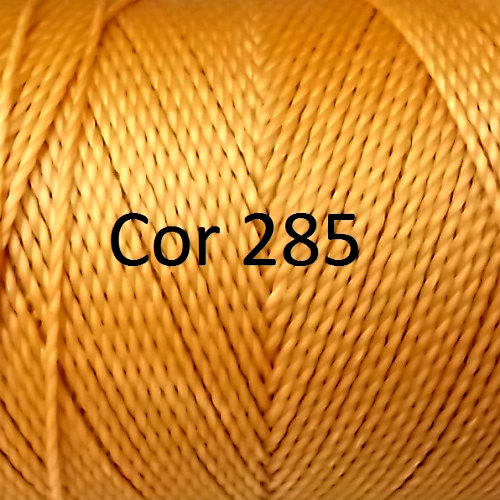 Linhasita Gold Yellow Color - Waxed Thread Cone , Spools 100% Polyester Cord
