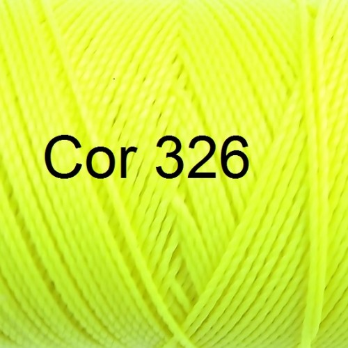 Linhasita Neon Yellow Color - Waxed Thread Cone , Spools 100% Polyester Cord