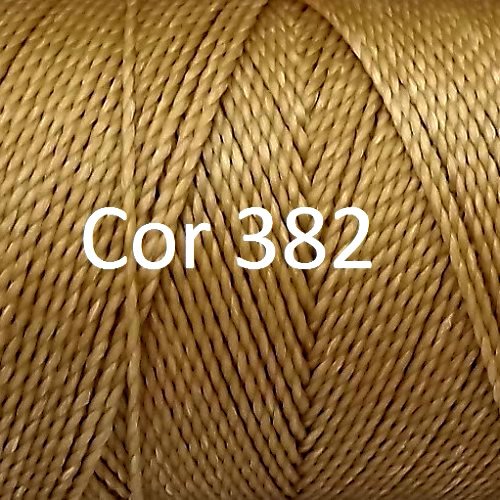 Linhasita Beige Color - Waxed Thread Cone , Spools 100% Polyester Cord