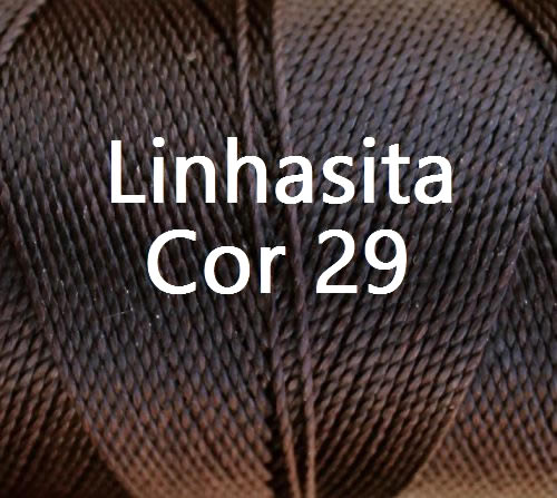 Linhasita Chocolate Color - Waxed Thread Cone , Spools 100% Polyester Cord