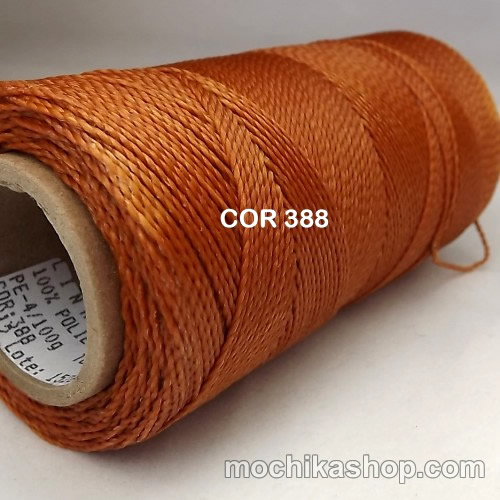 Linhasita Copper Color - Waxed Thread Cone , Spools 100% Polyester Cord