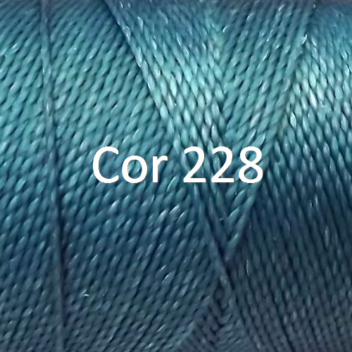 Linhasita Turquoise Color - Waxed Thread Cone , Spools 100% Polyester Cord