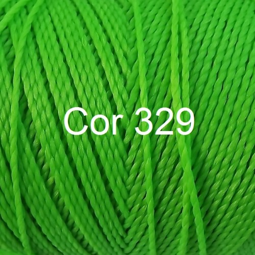 Linhasita Neon Green Color - Waxed Thread Cone , Spools 100% Polyester Cord