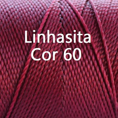 Linhasita Burgundy Color - Waxed Thread Cone , Spools 100% Polyester Cord
