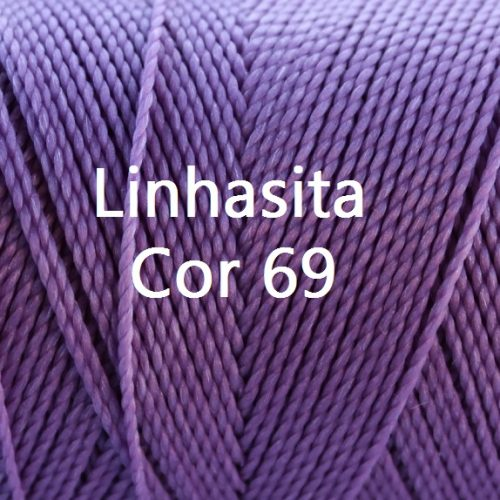 Linhasita Lilac Color - Waxed Thread Cone , Spools 100% Polyester Cord