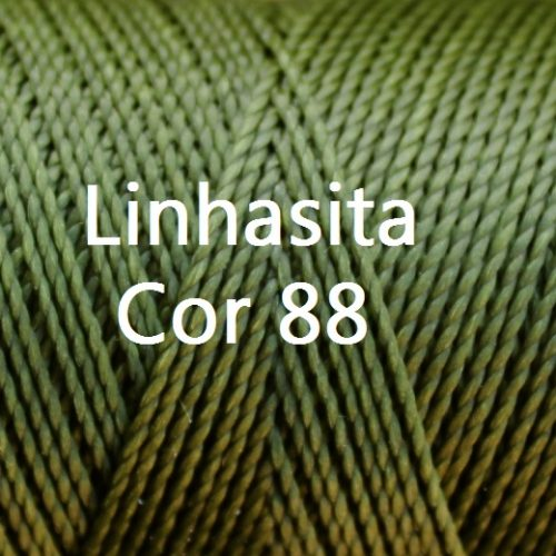 Linhasita Olive Green Color - Waxed Thread Cone , Spools 100% Polyester Cord