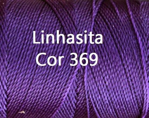 Linhasita Purple Color - Waxed Thread Cone , Spools 100% Polyester Cord