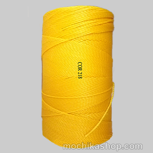 Linhasita Bright Yellow Color - Waxed Thread Cone , Spools 100% Polyester Cord