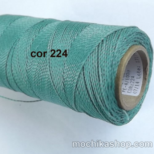 Linhasita Green Aqua Color - Waxed Thread Cone , Spools 100