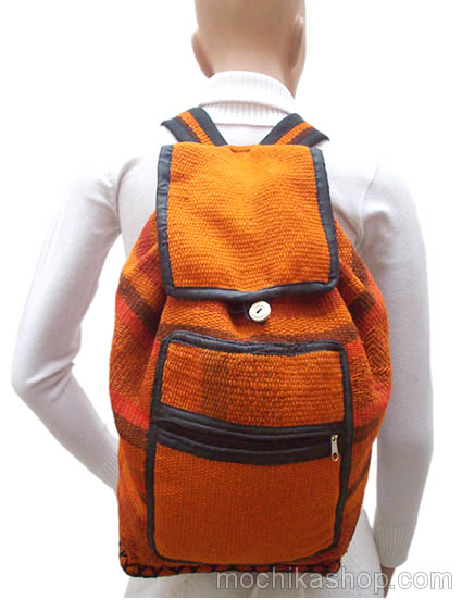 04 Tribal Andean Peruvian Backpacks Hand Woven Sheep Wool