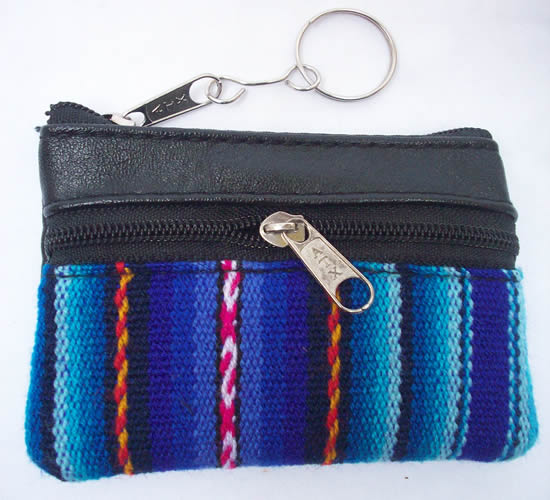 Cusco Blanket and Leather Coin Purses