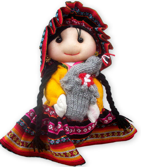 12 Wholesale Peru Andean Dolls Handmade Cusco Blanket Colorful