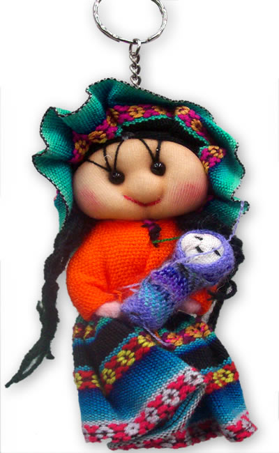 Peru Andean Dolls Key Rings