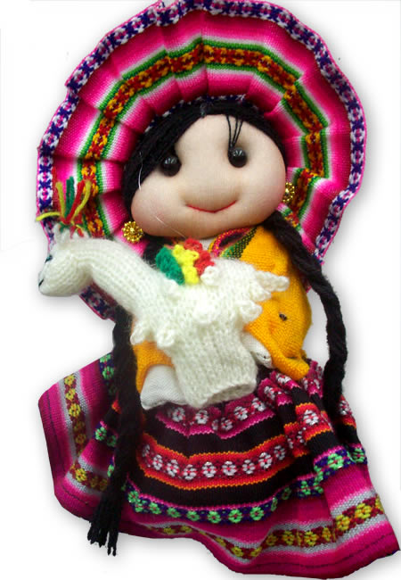 Lot 24 Big Peruvian Andean Dolls Handmade Cusco Blanket Colorful