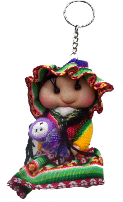 12 Wholesale Peru Andean Dolls Key Rings Handmade Cusco Blanket