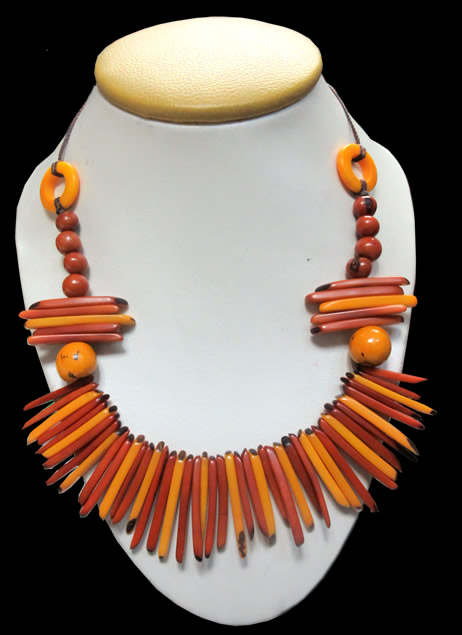 Inca Design Peruvian Tagua Sticks Necklaces