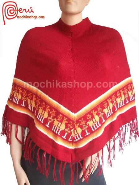 06 Peruvian Poncho Handmade Acrylic Wool Andean Images Design